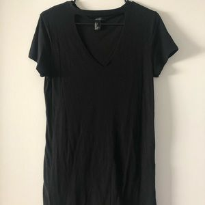 black cutout t-shirt dress